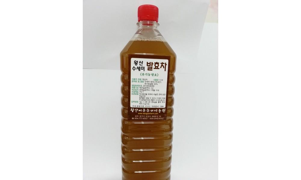 왕산수세미발효차(유기농설탕발효) 2병 (1.5L)(PET병)